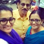 Parvathy with her parents