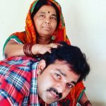 Pawan Singh with his mother