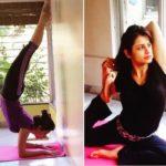 Perneet Chauhan doing yoga