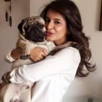 Perneet Chauhan with her Dog