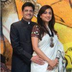 Piyush Goyal with wife Seema