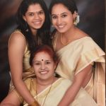 Pooja Ramachandran with her mother & sister