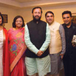 Prakash Javadekar With His Family