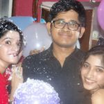 Pujarini Ghosh with her Sister and Brother