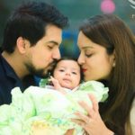 Pushkar Jog with his wife and daughter