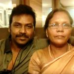 Raghava Lawrence with his mother Kanmani