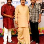 Raghu Babu with his father and brother