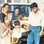 Raghubir Yadav with his Ex-wife and son
