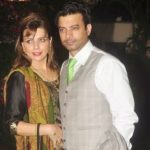Rahul Bhat with his wife