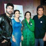 Raj Babbar With His Istri, Son, And Daughter