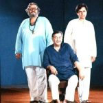Raj Kapoor Sitting and Shammi and Shashi Kapoor standing left and right respectively