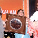 Ramesh Oza Receiving Honour from Dr. A . P . J . Abdul Kalam The Former President of India