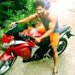 Rehaan Roy with his bike Honda CBR