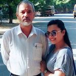 Renee Dhyani with father