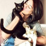 Resham Tipnis With Cats