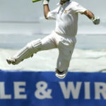 Ricky Ponting Celebrates His First Double Century During Play Against West Indies (April 2003)