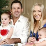 Ricky Ponting With His Wife And Kids