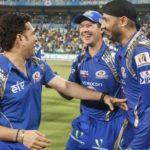 Ricky Ponting with Sachin Tendulkar and Harbhajan Singh