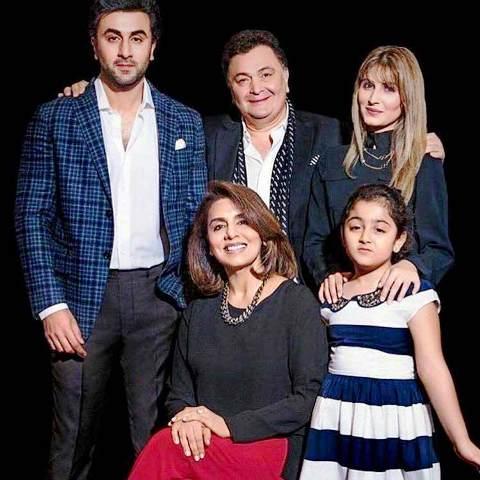 Rishi KapoorWith His Family