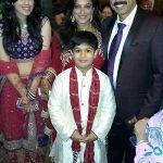 Ritu Vij with husband and children