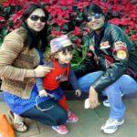 Ritvi Jain with her parents