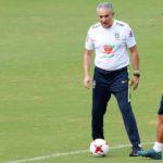 Roberto Firmino with Brazil Coach Tite