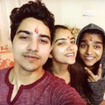 Rohit Chandel with his siblings