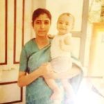 Rrahul Sudhir (Childhood) with his mother