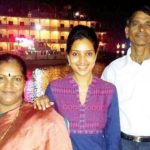 Rupali Bhosle with parents