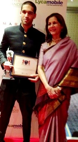 Sameera Tyabjee with her son Siddharth Mallya