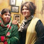 Sana Iqbal with her mother