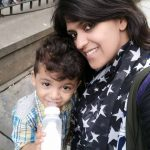 Sana Iqbal with her son