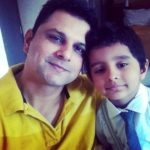 Sandeep Rajora with his son Ivaan Rajora