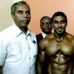 Sangram Chougule with his father