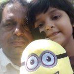 Saniya Touqeer with her father