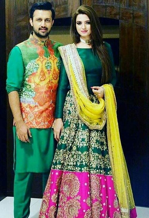 Sara Bharwana with her husband Atif