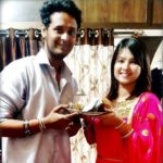 Sara Shrawan with her brother Sushant Patil