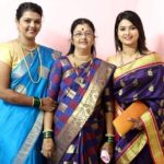 Sara Shrawan with her mother Beena Patil and sister Shilpa Patil