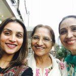 Sarita Joshi with daughter Ketki Dave and Purbi Joshi
