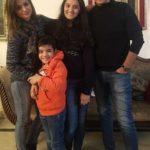 Shahana Verma with her husband and children