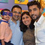 Sharad Lumba With His Sister Bhavna Malik And Bhavna's Husband Rohit Malik