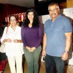 Sharad Saxena with his wife and daughter