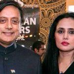 Mehr Tarar with Shashi Tharoor