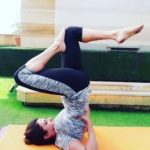 Sheeba Akashdeep doing Yoga