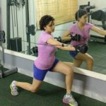 Sheethal Goutham working out