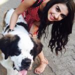 Shirin Sewani Dog Lover