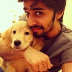 Shivam Patil with his dog