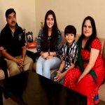 Navika Kotia with her family