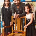 Shoojit Sircar With His Daughters Ananya (L) and Koyna (R)