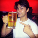 Shresth Kumar drinking beer